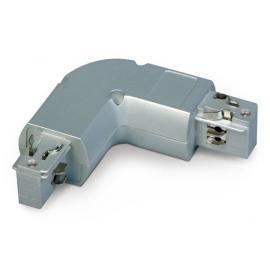 Rohový diel ovál - ľavý: pre 3.fázový koľajnicový systém 230V/16A obj.č. 001353 - IP20