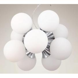 Svietidlo stropné závesné - objímka: 10xE27 - halogen 10x40W - kompakt 10x11W