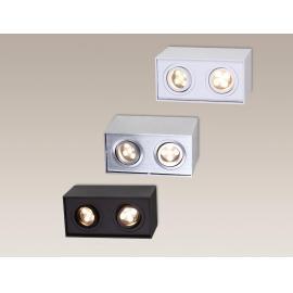 Svietidlo stropné prisadené - objímka: 2xGU10 - halogén max. 2x50W, LED max. 2x10W