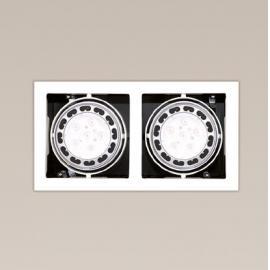 Svietidlo stropné podhľadové - svetelný zdroj: AR111 - 2x50W, 12V