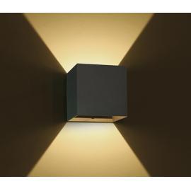 Svietidlo nástenné:100-240V - LED2x3W - IP54