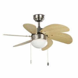 Svietidlo stropné ventilátorové, objímka: 1xE14 40W, IP20