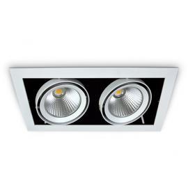 Svietidlo stropné podhľadové: 230V - LED 2x20W - IP20