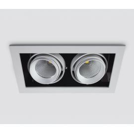 Svietidlo stropné podhľadové: 230V - LED 2x10W - IP20