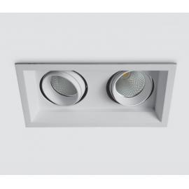 Svietidlo stropné podhľadové: 230V - LED 2x15W - IP20