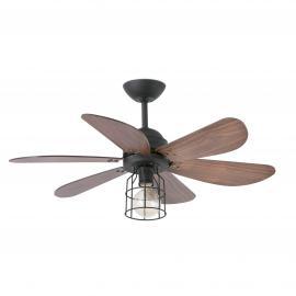 Svietidlo stropné ventilátorové, dialkové ovládanie - 1xE27 60W, IP20