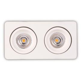 Svietidlo bodové - stropné podhľadové - svetelný zdroj: 2xLED 7,5W, 3000K, 1100lm