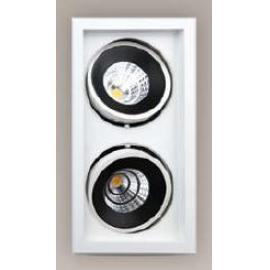 Svietidlo bodové - stropné podhľadové - LED - 230V - 2x15W, 3000K, 2160LM